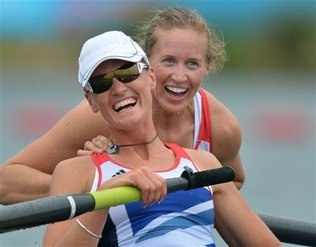 British rowing team of Katherine Grainger & Anna Watkins bring home the gold in a sport that reaches back to 1715 for the Brits.