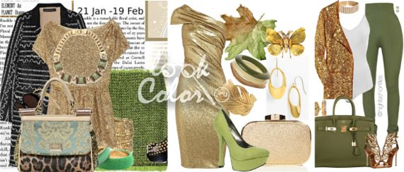 Зелено золотое в одежде