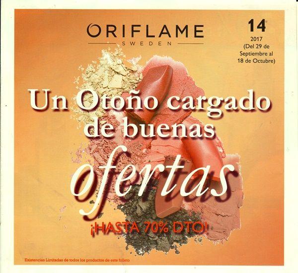 http://eltocadordemiriam.com/folleto-especial-oriflame-2017-c14/ Y éste es el #NUEVO #FOLLETO ESPECIAL de #Oriflame del catálogo nº 14: ¡¡UN OTOÑO CARGADO DE BUENAS OFERTAS!!😎🍁 No te pierdas esta gran oportunidad de conseguir los mejores #productos de #belleza CON DESCUENTOS DE HASTA UN 70%!!  👉Ofertas disponibles solo del 29 de septiembre hasta el 18 de octubre y con #existencias #limitadas. 💁♀️Te animo a que lo eches un vistazo y si te interesa algo solo tienes que decírmelo!!