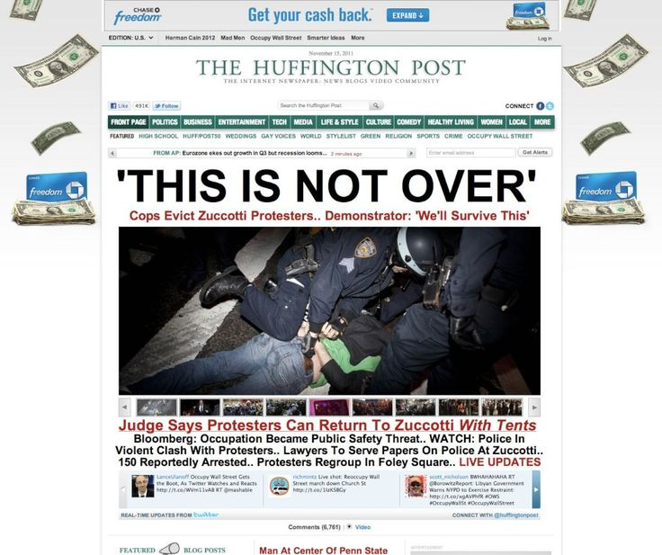 Occupy Wallstreet vs Get your money back MASHUP #advertising #placement #juxtaposition #digital