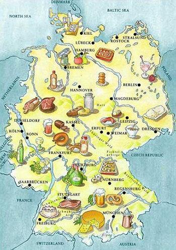 German food map