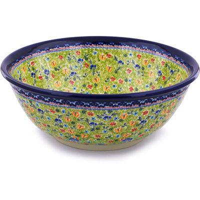 Polish Pottery 17-inch Sink Bowl | Boleslawiec Stoneware | Polmedia H2578G | Polmedia