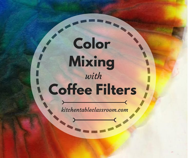 Color Mixing on Coffee Filters