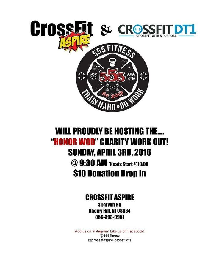 Are you in the NJ/PA area? If so please join the 555 Fitness Crew and @crossfitaspire_crossfitdt1  for an Honor WOD Charity Workout #555fitness #fire #fitness #firefighter #wod #workout #ems #engine #iaff #goestojobs #trainhard #dowork #thdw #555thdw #gym #fitness #fit #swole #igfitness #fitspiration #instafit #food #abs #aesthetic #bodybuilding #crossfit #deadlifts #squat #motivation #events Have a fitness event coming up? Please email events@555fitness.com