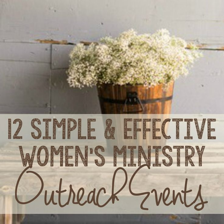 ladies ministry ideas