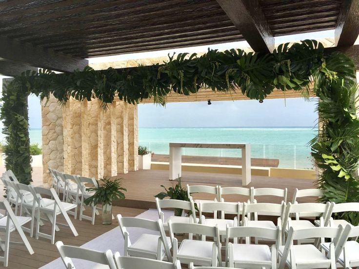 CBG254 wedding Riviera Maya greenery foliage for ceremony/ ceremonia con follaje