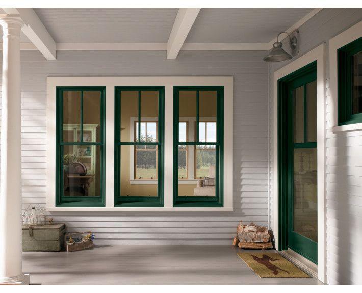Andersen Windows 400 Series, Series | Forest Green Windows U0026 Patio Door 2x1  Grille Pattern In The Windows ... | Windows | Pinterest | Andersen Windows,  ...
