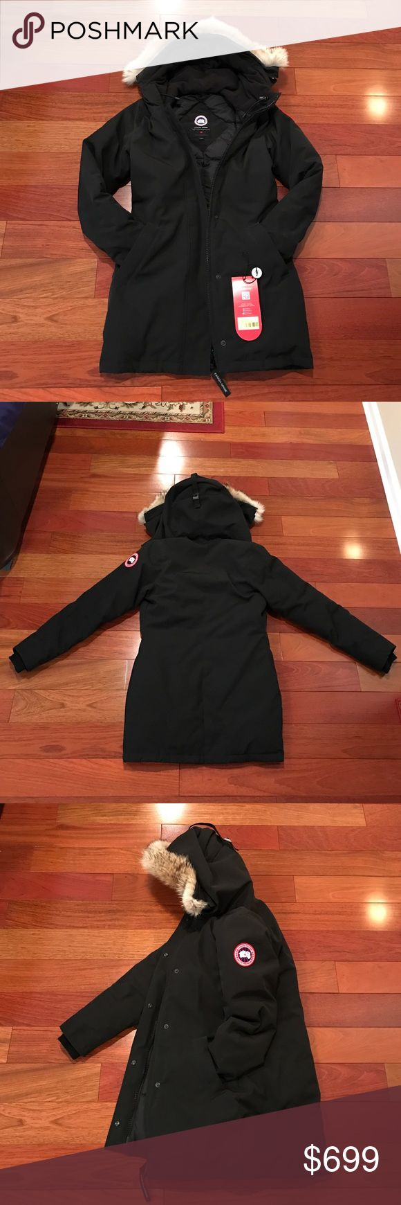 Authentic Canada Goose Victoria Parka Black XS Pre-owned, 100% Authentic Canada Goose Women's Victoria Parka in Black, Size XS.  Good condition. Worn for one winter season. Signs of wear on cuff area. Comes with detached tags.  Please view all photos and ask any questions prior to purchasing, thanks! Canada Goose Jackets & Coats