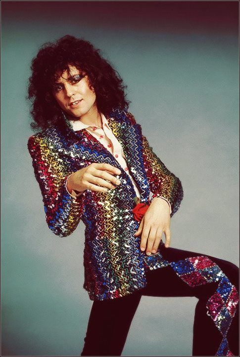 "Marc Bolan - T. Rex. Super glam and ready for his ""Hot love""."
