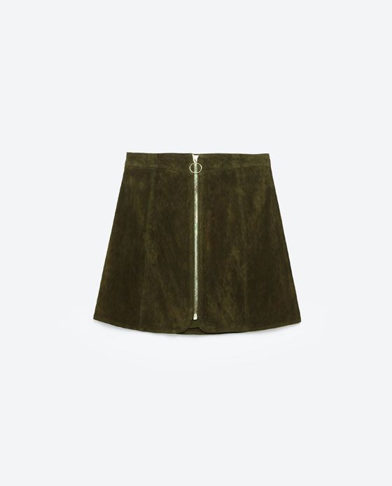 Image 8 of LEATHER MINI SKIRT from Zara