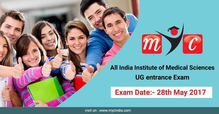 Quick Reminder for students appearing for AIIMS (All India Institute of Medical Sciences) UG entrance. Exam to be conducted on 28th May 2017 (Sunday). Click here for more information. https://www.mycindia.com/index.php/exam/details/197