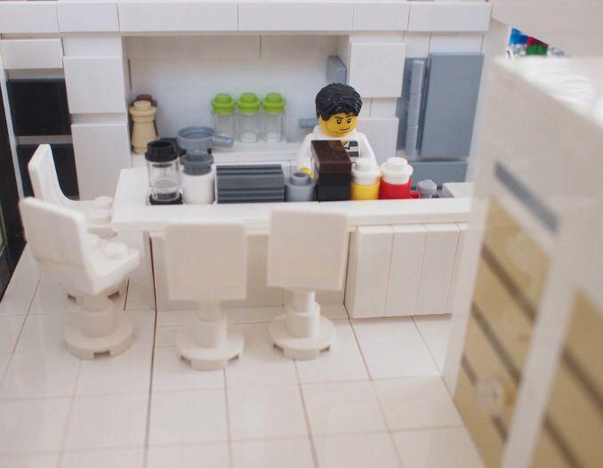 242 besten lego interior kitchen dining room bilder auf pinterest k che und esszimmer. Black Bedroom Furniture Sets. Home Design Ideas