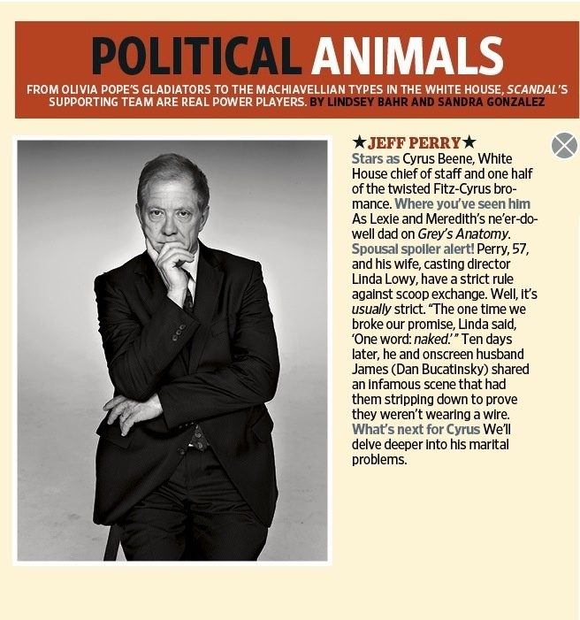 Celebrity Actor JEFF PERRY is Cyrus on Scandal TV Show Series