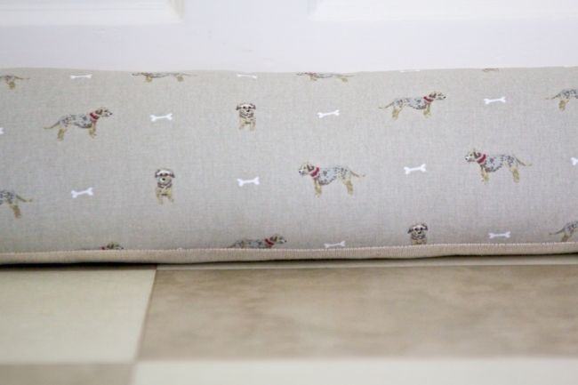 Sophie Allport Terrier fabric  Draught Excluder