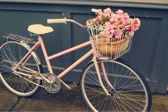 Light Pink Bike With Basket Art Pinterest Pink Bike