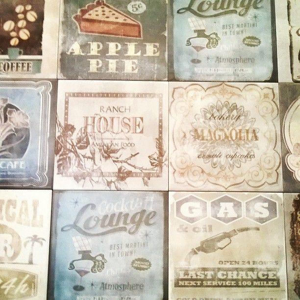 Vintage mood Ceramica Faetano - Serie Portland 20x20 #rivestimento #ceramica…
