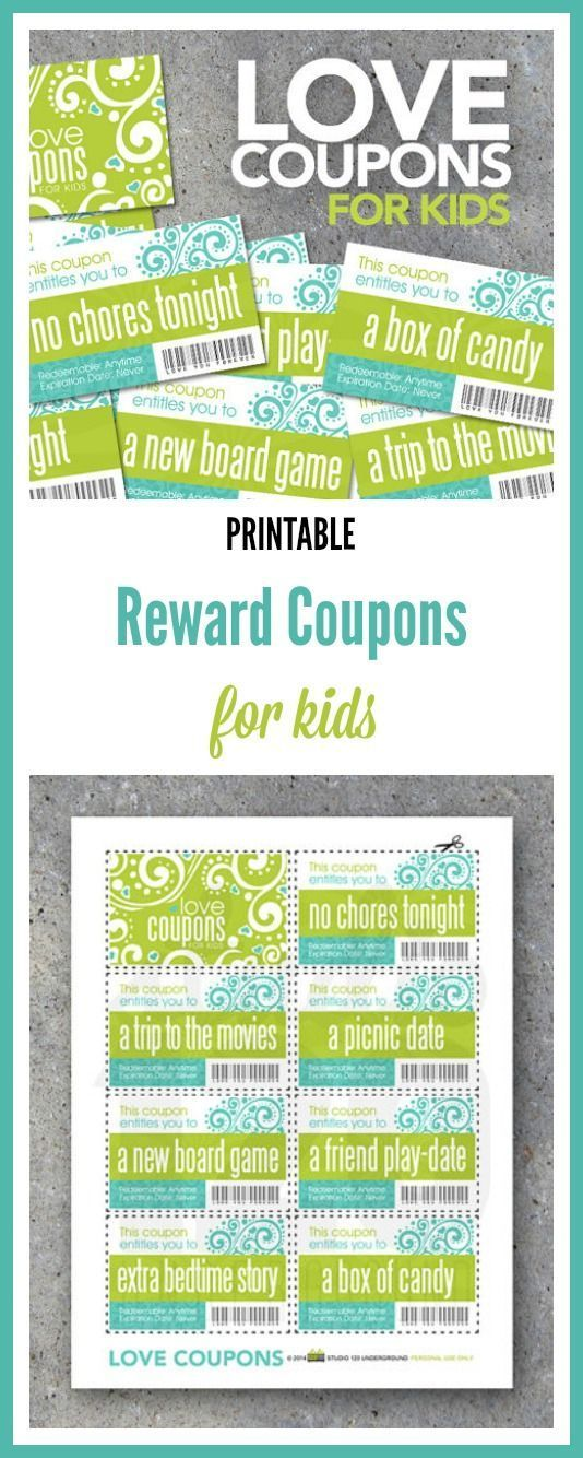 printable love coupons for moms and dads to give to their kids