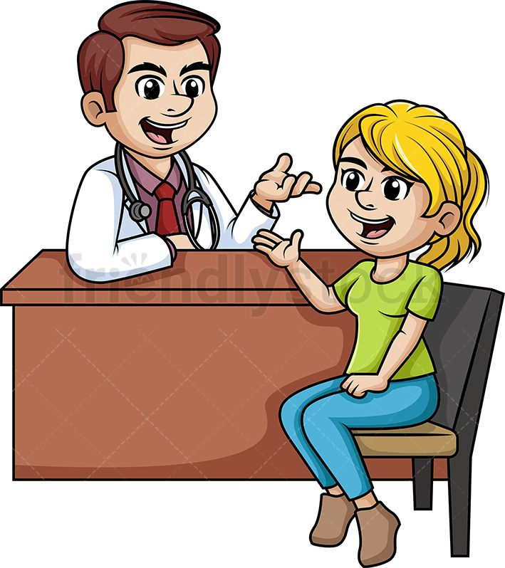Woman Chatting With A Doctor Cartoon Clipart Vector Friendlystock Cartoon Clip Art Medical Clip Art Cartoon