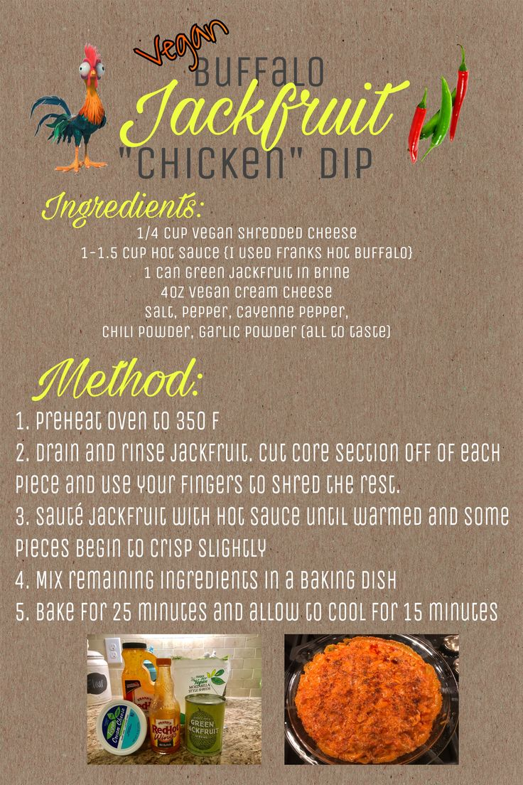 (vegan) Buffalo Jackfruit Dip! Yummy swap for Buffalo chicken dip!