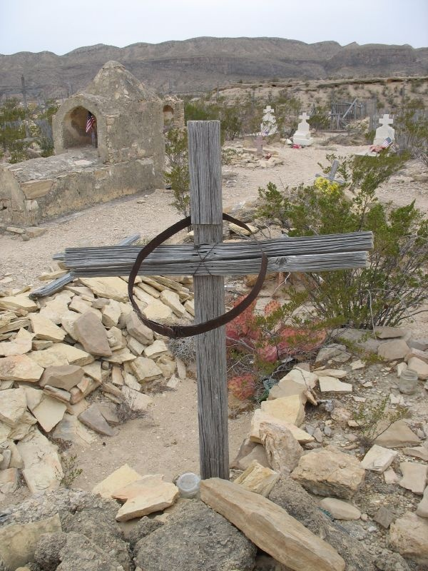 Cemetery at the Terlingua Ghost Town in West Texas #bigbend #westtexas