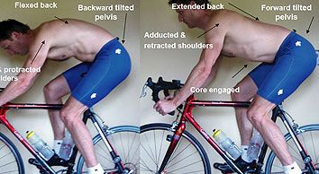 good posture = pedal power