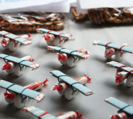 Candy Airplanes, great take home treat for a boys Airplane themed birthday party!