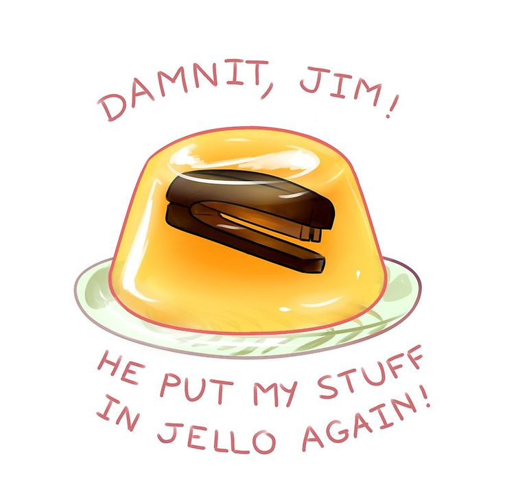 stapler in jello by Sifacofa