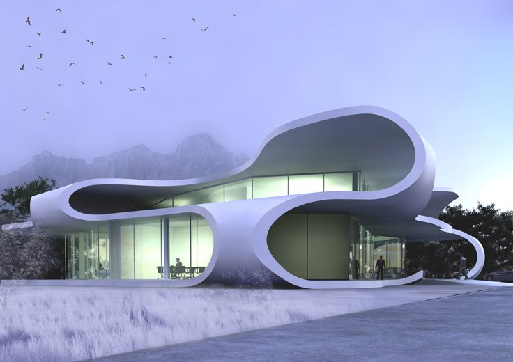 Civic Centre, Mestia, Georgia, Design Study: 2010, J. MAYER H. Futuristic Architecture, Future Building
