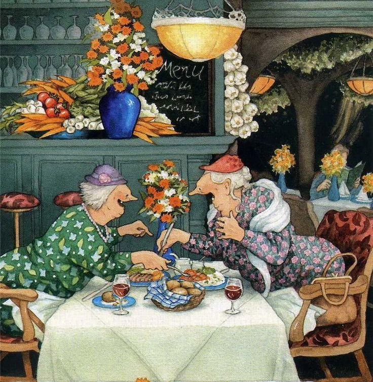 Картинки веселые бабульки, открытка днем химика