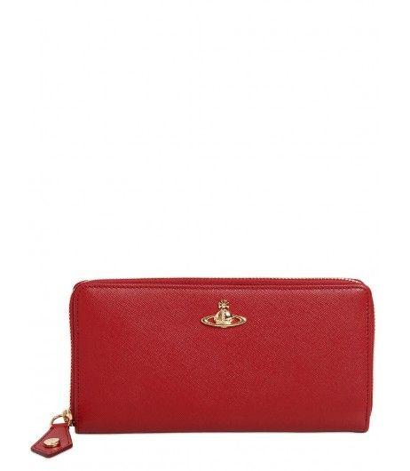 Vivienne Westwood Opio Saffiano Leather Zip Around Wallet Red #Christmas2016 #Christmassale
