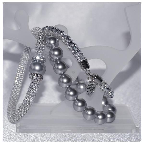 Karkötő inspirációk #Swarovski Crystal ROUND gyöngyökből. Az ékszerek Tóth Zsuzsanna munkái.