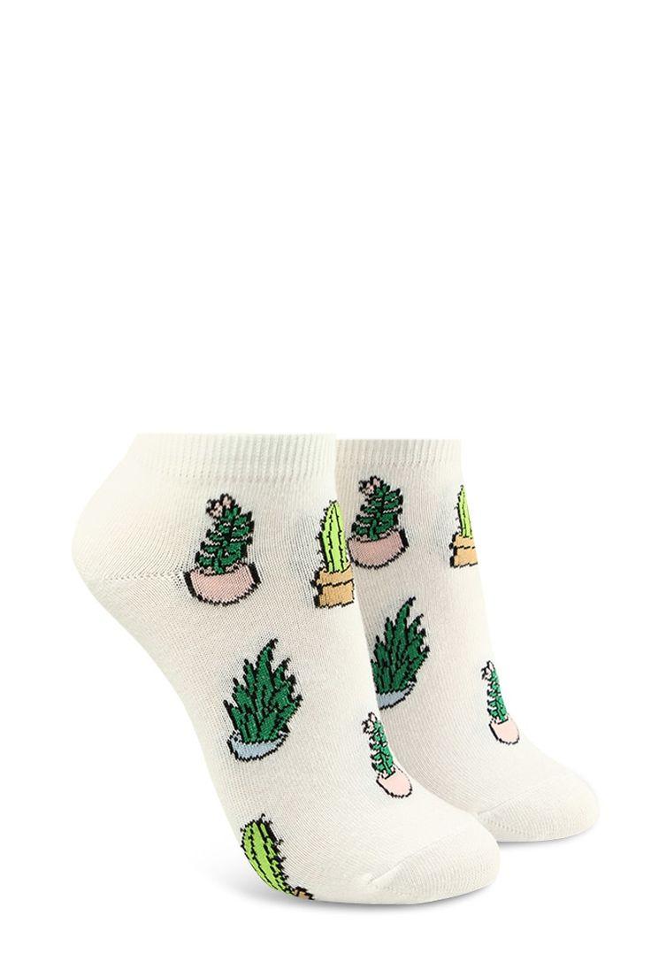 Succulent Plant Ankle Socks | Forever 21 - 2000092321