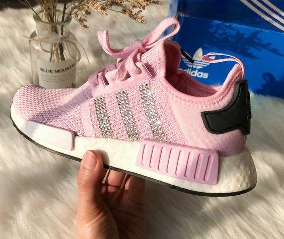 Bling Swarovski Adidas Nmd Pink Sneakers Custom Adidas Shoes Women