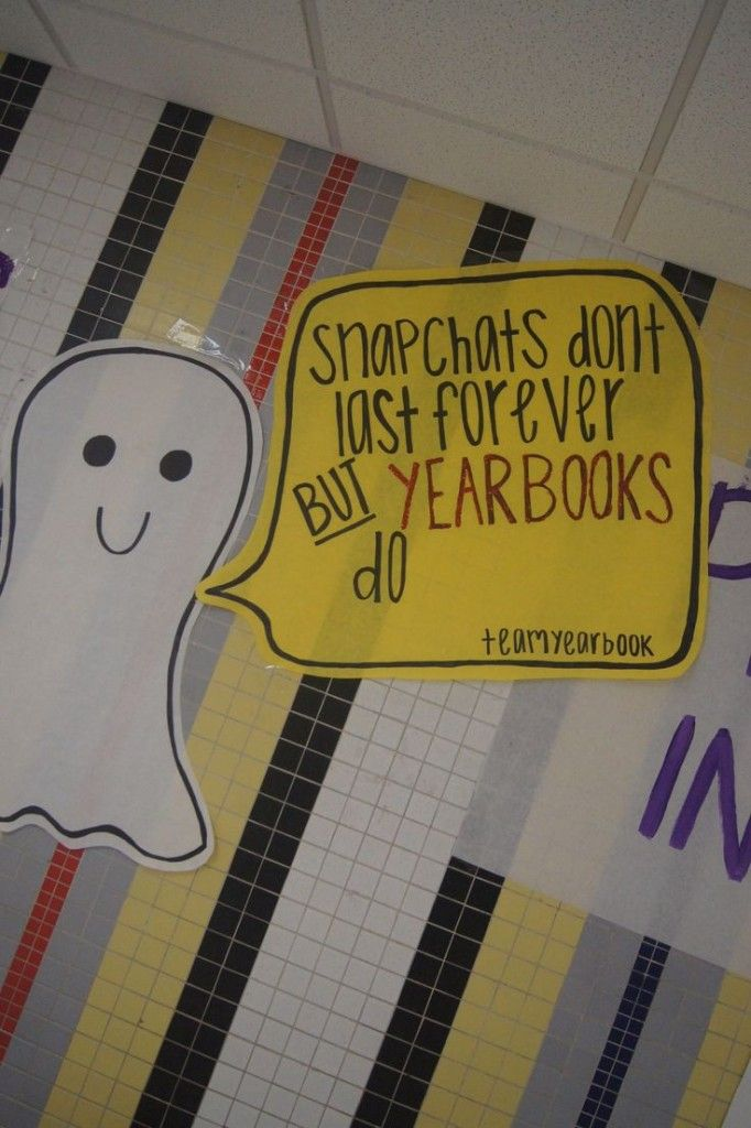 yearbook marketing - Snapchat mural