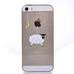Iphone 5/iPhone 5S - Achterkantje - Cartoon/Speciaal Design/Transparant/Noviteit/Anime/Ultra Slim/Dier/Cool Word / Phrase/Holding / Eating Apple-logo