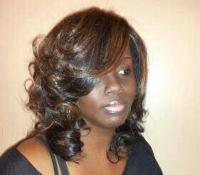 Lightest Brown Amp Blonde Highlights Full Sew In No Leave