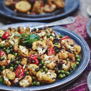 Cauliflower with Peas: Organic Gardening Loved it.  I made it with the Masoor Dal.