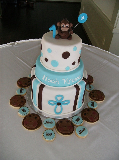 little boy birthday cakes | baptism birthday cake this party set including a three tiered cake ...