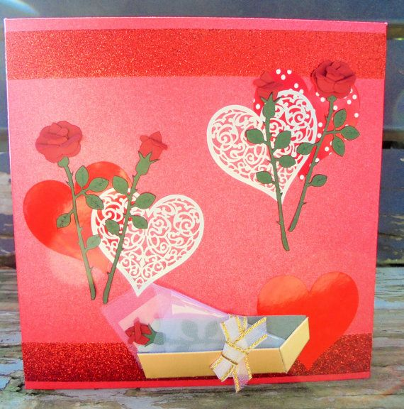 Red Roses  handmade card any occasion FWB by RogueKissedCraft