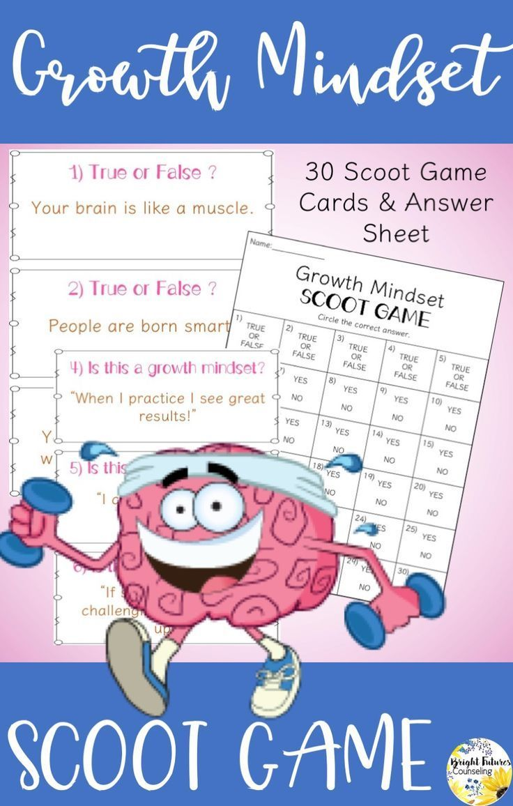 Help students develop a growth mindset with this growth mindset scoot game!