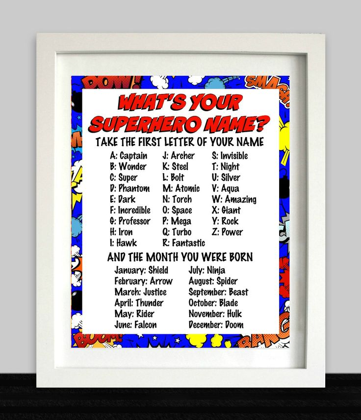 Superhero Party Sign // What's Your Superhero Name // Superhero Birthday // Superhero Art // Superhero Party Decor // Superhero Printable by NothingPanda on Etsy https://www.etsy.com/listing/515767731/superhero-party-sign-whats-your