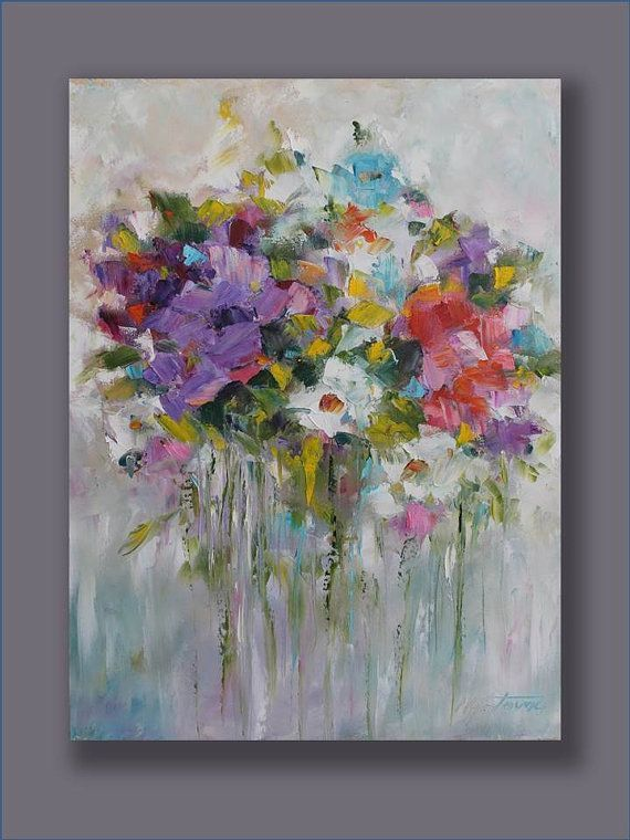 Original Oil Painting Beauty From My Garden Art Home by mgotovac