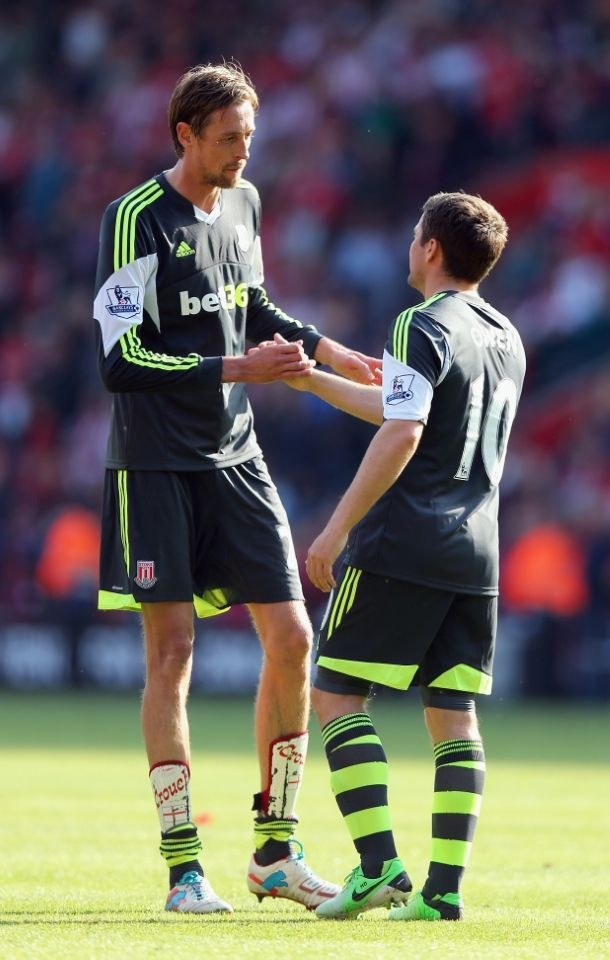 ~ Michael Owen and Peter Crouch of Stoke City on the final day of the 2012-2013 Barclays Premier League Season ~