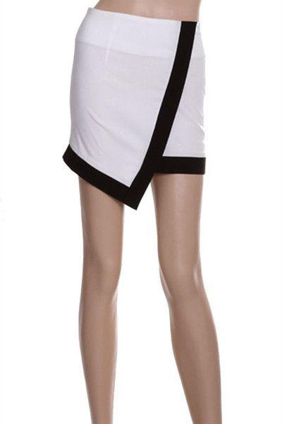 Comeback Asymmetrical Skirt - White