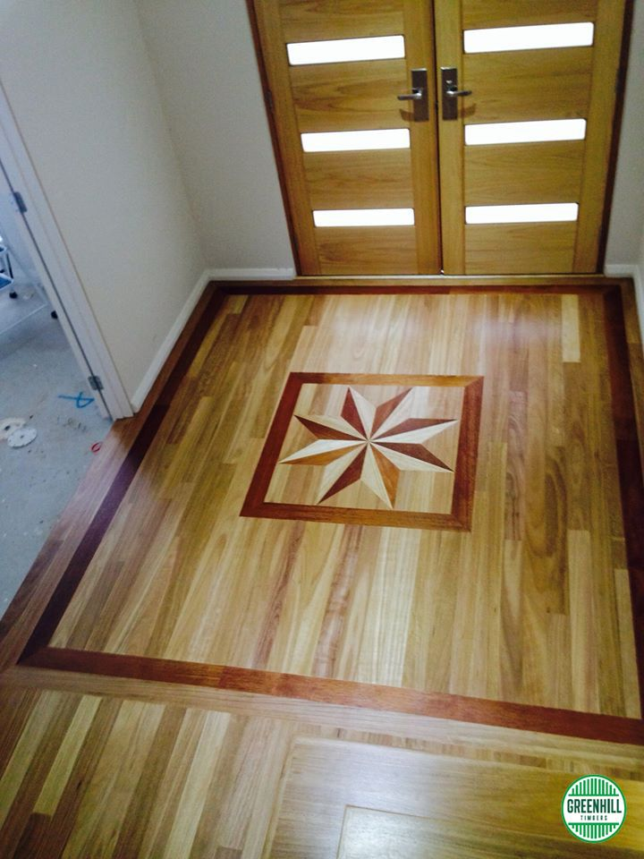 An absolute stunning entry feature containing Merbau, Vic Ash and Blackbutt with Blackbutt flooring. If you want something similar get in touch. www.greenhilltimbers.com.au (03) 9465 9875.