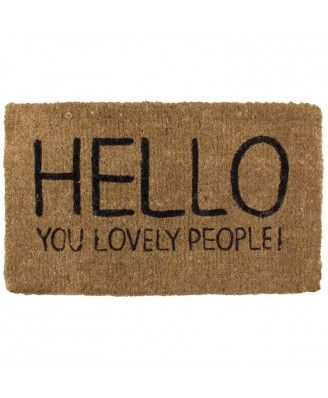 Hello You Lovely People Door Mat - Browse All - Happy Jackson - Browse by Brand | TemptationGifts.com