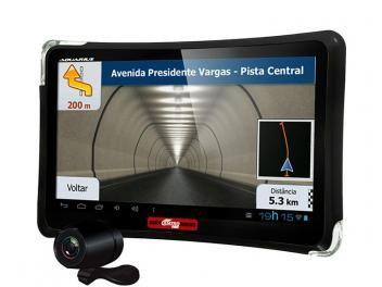 """GPS Automotivo Quatro Rodas Aquarius Tela 7"""" - Touch Screen com TV Digital e Câmera de Ré"""