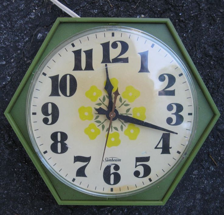 Retro Electric Kitchen Wall Clocks: 365 Best Very VTG Kitchen Clocks Images On Pinterest