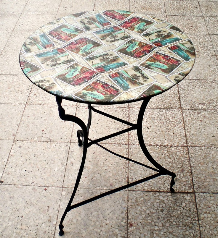 Decoupage on iron table hierro pinterest hierro for Table 6a of gstr 1