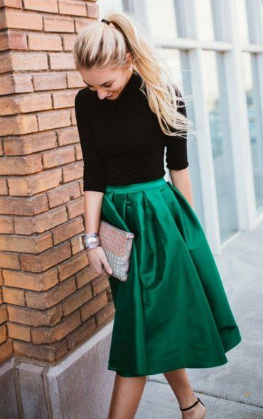 Women's Holiday Evergreen Party Skirt Now in Stock